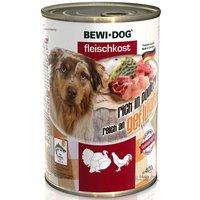 6er PACK Hundefutter Bewi Dog Fleischkost reich an Geflügel