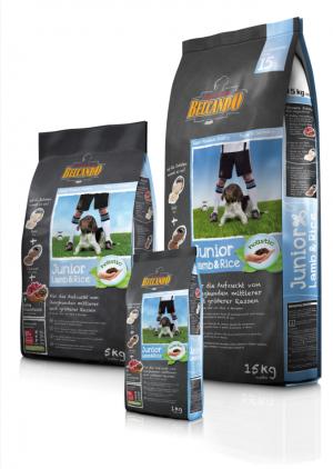 Hundefutter Belcando Junior Lamm & Reis für die Aufzucht mittlerer und großer Rassen