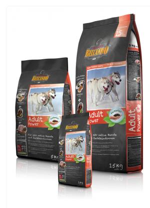 Hundefutter Belcando Adult Power Trockenfutter für aktive Hunde/ Zuchthündinen