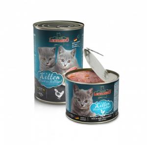 6er PACK Katzenfutter Leonardo Kitten hochwertige Feuchtnahrung Dose