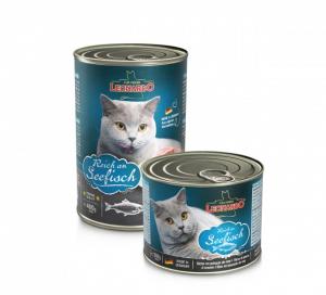 6er PACK Katzenfutter Leonardo Reich an Seefisch hochwertige Feuchtnahrung