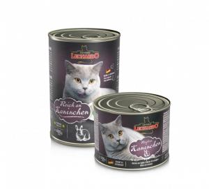 6er PACK Katzenfutter Leonardo Reich an Kaninchen hochwertige Feuchtnahrung