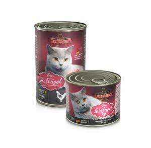 6er PACK Katzenfutter Leonardo Geflügel pur hochwertige Feuchtnahrung