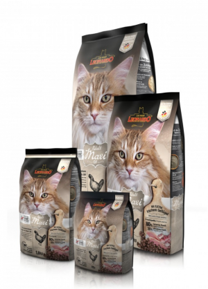 Katzenfutter Leonardo Adult Maxi Grain Free Trockenfutter für große Katzenrassen