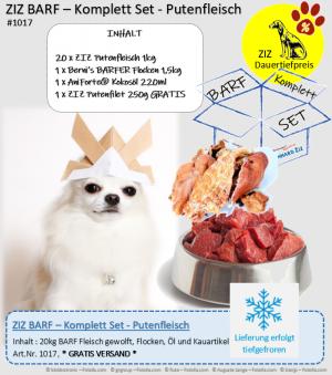 ZIZ BARF - Komplett Set - Putenfleisch
