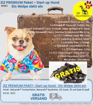 ZIZ PREMIUM - Paket- Start Up Hund - Ein Welpe zieht ein