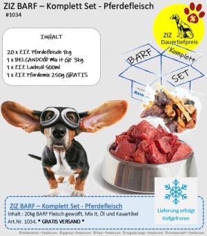ZIZ BARF - Komplett Set - Pferdefleisch