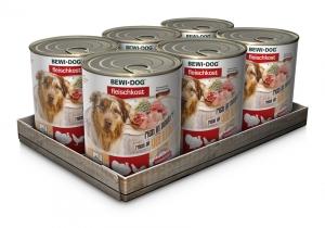 6er PACK BEWI DOG® Fleischkost Dosenmix