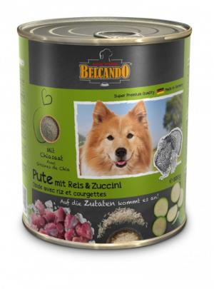 Hundefutter Belcando Pute m. Reis & Zucchini hochwertige Feuchtnahrung