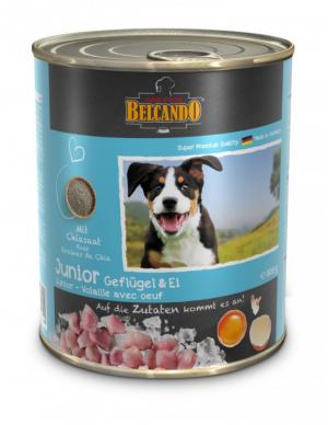 6er PACK Hundefutter Belcando Junior Geflügel & Ei hochwertige Feuchtnahrung