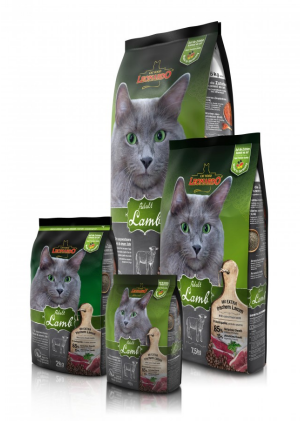 Katzenfutter Leonardo Adult Lamm Trockenfutter für ausgewachsene Katzen