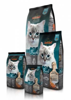 Katzenfutter Leonardo Adult Fisch Trockenfutter für ausgewachsene Katzen