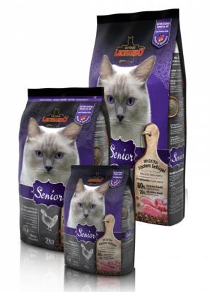 Katzenfutter Leonardo Senior Trockenfutter für ältere Katzen