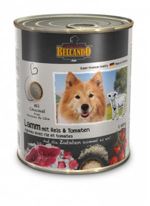 6er PACK Hundefutter Belcando Lamm m. Reis & Tomaten hochwertige Feuchtnahrung