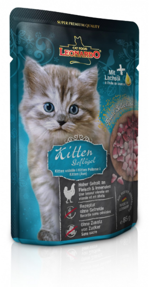 Katzenfutter Leonardo Kitten Geflügel 85g im Portionsbeutel