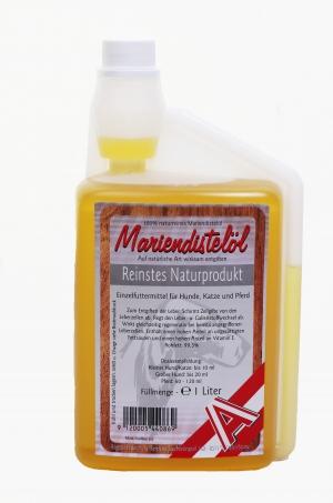 Hundefutter Zusatzstoff / Ergänzungsmittel Mariendistelöl 1Liter