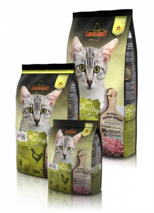 Katzenfutter Leonardo Adult Poultry Grain Free Trockennahrung Sensibilität auf Getreide