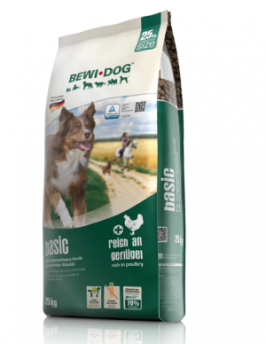 Hundefutter Bewi Dog Basic Trockenfutter für normale Aktivität