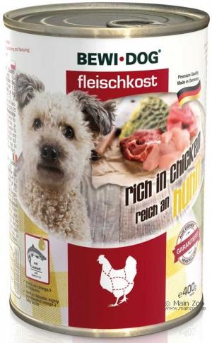 6er PACK Hundefutter Bewi Dog Fleischkost reich an Huhn