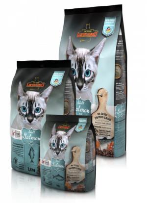 Katzenfutter Leonardo Adult Salmon Grain Free bei Getreideunverträglichkeit