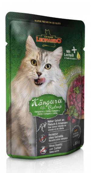 Katzenfutter Leonardo Känguru + Minze 85g im Portionsbeutel