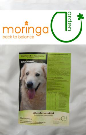 Moringa Hundefutter fleischloses Alleinfutter mit Insekteneiweiß 5kg