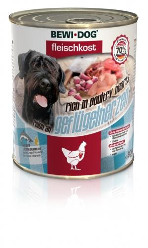 BEWI DOG® Fleischkost reich an Geflügelherzen