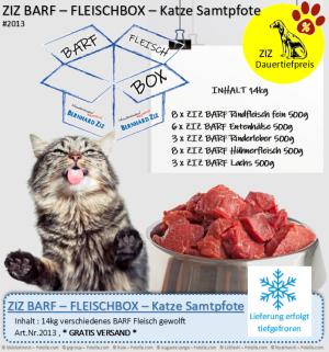 ZIZ BARF - FLEISCHBOX - Katze Samtpfote