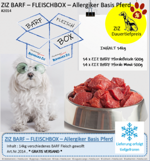 ZIZ BARF - FLEISCHBOX - Allergiker Basis Pferd