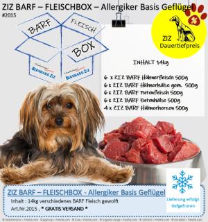 ZIZ BARF - FLEISCHBOX - Allergiker Basis Geflügel