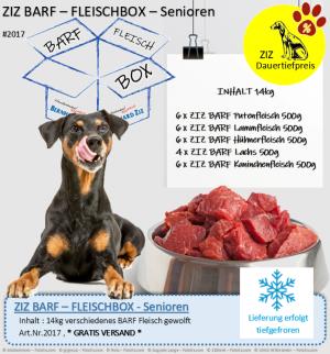 ZIZ BARF - FLEISCHBOX - Senioren