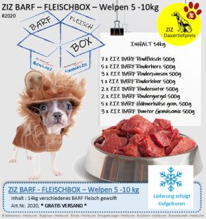 ZIZ BARF - FLEISCHBOX - Welpen