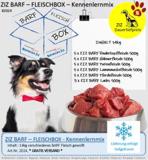 ZIZ BARF - FLEISCHBOX - Kennenlernmix
