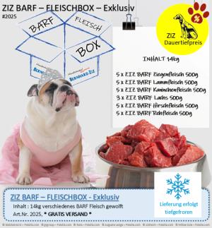 ZIZ BARF - FLEISCHBOX - Exklusiv