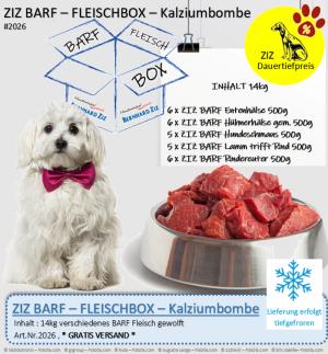 ZIZ BARF - FLEISCHBOX - Kalziumbombe