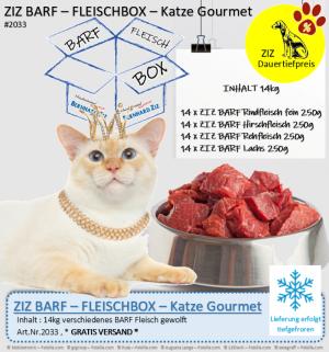 ZIZ BARF - FLEISCHBOX - Katze Gourmet