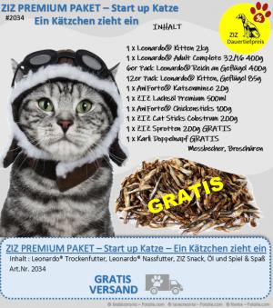 ZIZ PREMIUM - Paket - Start up Katze - Ein Kätzchen zieht ein