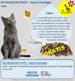 ZIZ PREMIUM - Paket - Katze Fischtiger